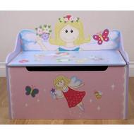 Flower Fairy Storage Toy Box Bench-Pink