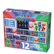 PJ Masks 12-Puzzle Pack