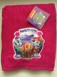 Paw Patrol Embroidered Pink Bath Towel