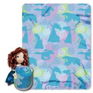 Disney Brave Merida Plush Pillow and Throw Blanket Set