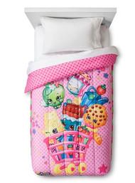 Shopkins Twin Comforter- Pink