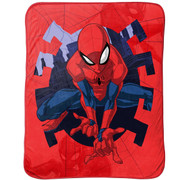 Spiderman Marvel Web Shot Travel Blanket