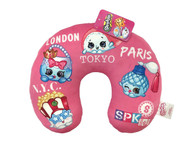 Shopkins Squad Pink Neck Pillow Characters