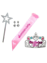 Little Girl Birthday Girl Party Dress Up Accessories Set