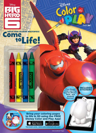 Big Hero 6 Color and Play Activity Book