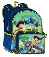 """Pixar Toy Story 15"""" Backpack with Lunch Bag"""
