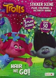 Trolls 24 Page Sticker Scene Plus Colouring & Activity Book