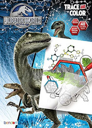 Bendon Jurassic World Trace and Color Coloring and Activity Book