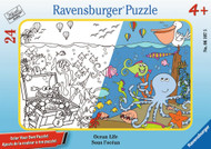 Ocean Life Color Your Own 24pc Frame Puzzle