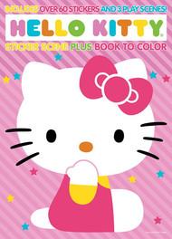 Hello Kitty Sticker Scene & Coloring Book