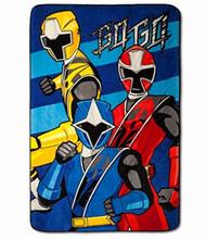 "Power Rangers Blanket Oversized Plush 62"" x 90"" Soft Throw"