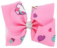 JoJo Siwa Large Cheer Hair Bow (Pink Unicorn Cupcake)