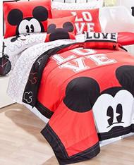 "Mickey Classic ""Luv"" Sheet Set, Twin"