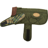 Burbark Quilted Dog Jacket, Small, Green