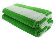Green Cabana Beach Towels - 2 Pack