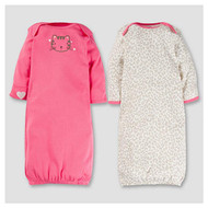 Baby Girls' 2pk Cotton Gown - Kitty 0-6M