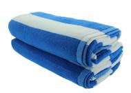 Light Blue Cabana Beach Towels - 2 Pack