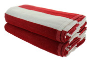 Red Cabana Beach Towels - 2 Pack