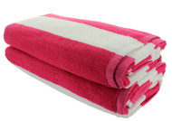 Pink Cabana Beach Towels - 2 Pack
