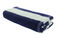 Navy Blue Cabana Beach Towels - 1 Pack