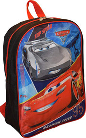 "Disney Cars 15"" School Bag Backpack"