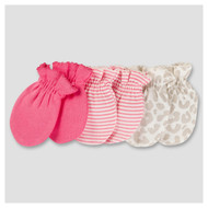 Gerber Baby Girls' 6-Pack Scratch Mitts