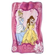 Princess Cinderella and Belle Micro Raschel Twin Blanket