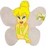 "28"" Disney Fairies Tinkerbell Shaped Rug Cotton"