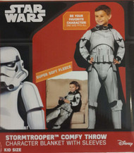 Star Wars Stormtrooper Comfy Throw Character Blanket with Sleeves