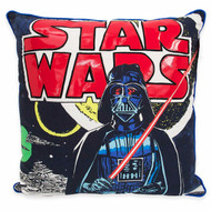 Star Wars Classic Logo Square Throw Pillow