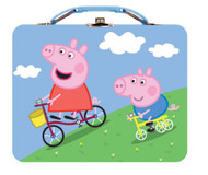 Peppa Pig Large Carry All Tin Lunch box- Blue