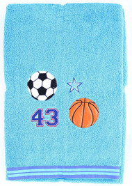 All-Stars Sports Embroidered Oversized Bath Towel