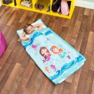Everyday Kids Toddler Nap Mat with Pillow - Underwater Mermaids