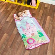 Everyday Kids Toddler Nap Mat with Pillow -Princess Storyland