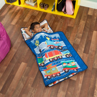 Everyday Kids Toddler Nap Mat with Pillow -Choo Choo Train