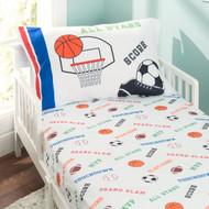 Everyday Kids Sports Toddler Sheet Set - Varsity Sports