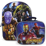 Avengers Infinity War Backpack with Lunch Box