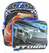"Disney Cars 16"" Backpack with Lunch Bag Set"