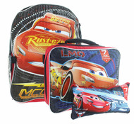 "Disney Cars 16"" Backpack with Lunch Bag Set  - McQueen"