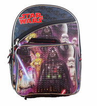 """Star Wars 16"""" Kids Backpack with Lunch Box"""