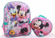 Disney Minnie Mouse Backpack Lunch Box SET