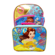 Disney Beauty & the Beast Belle Backpack with Lunch Box
