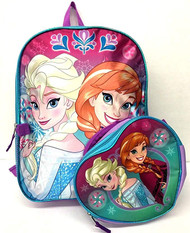 Frozen Elsa and Anna School Backpack Set