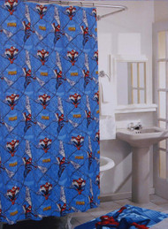 Spiderman Vinyl Shower Curtain
