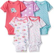 Gerber Baby Girls' 5 Pack Onesies, Birdie, 3-6 Months