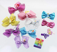 My Little Pony Glitter Hair Bows+Accessories Set