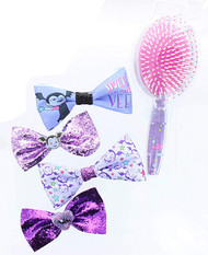 Vampirina Glitter Brush and Bows Set
