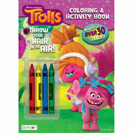 Trolls Coloring & Stickers Activity Book