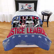Justice League Twin/Full Comforter and Sham