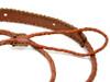 Brown Braided Leather Mandolin Strap